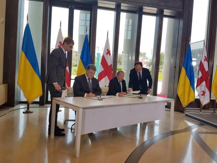 Встреча президентов Украины иГрузии Порошенко иМаргвелашвили,