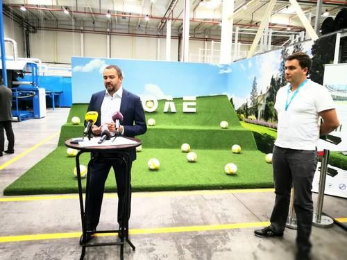 ВУкраинском государстве открыли 1-ый завод попроизводству покрытия для футбольных полей