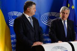 Президент Украины провел встречу с Президентом Европейского Парламента
