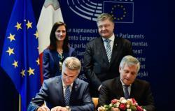 В Страсбурге подписано соглашение о безвизовом режиме между Украиной и ЕС