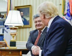 Президент Украины Петр Порошенко провел в Белом Доме встречу с Президентом США Дональдом Трампом