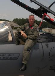 Летчик-испытатель ВВС США подполковник Эрик Шульц