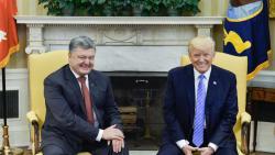 Президенты Украины и США во время встречи