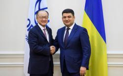 Премьер-министр Украины провел встречу с Президентом Группы Всемирного банка