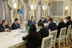 Президент Украины провел встречу с министром иностранных дел Франции