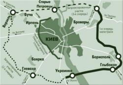 Укравтодор обнародовал план объездной дороги вокруг Киева