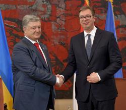 Петр Порошенко прибыл с визитом в Сербию