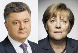 Петр Порошенко провел телефонный разговор с Ангелой Меркель