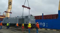 Первый локомотив General Electric прибыл в Украину