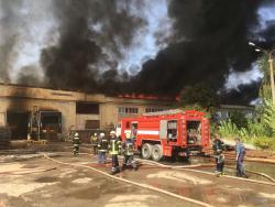 Масштабный пожар в Житомире