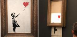 Картина Бэнкси самоуничтожилась после продажи на аукционе Sotheby's