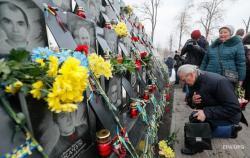 В Украине чтят память героев Небесной Сотни