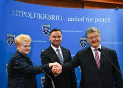 Президент Украины  провел встречу с президентами Польши и Литвы в Люблине