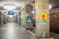 В Киеве на станции метро открыли выставку необычных портретов Тараса Шевченко