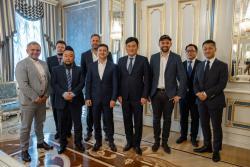 Президент Украины встретился с основателем японской компании Rakuten