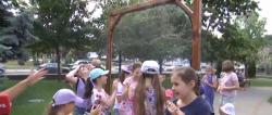 Жара в Киеве : В столице установили специальные рамки с распылением воды