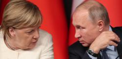 Путин и Меркель обсудили транзит газа через Украину