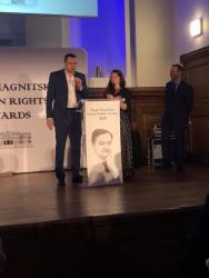 Олег Сенцов получил премию имени Сергея Магнитского