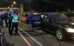 Взрыв автомобиля Mercedes в Киеве