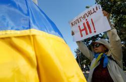 """В Киеве запланированы пять акций протестов накануне и в день """"нормандского саммита"""""""