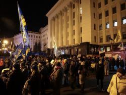 "После встречи ""нормандской четверки"" закончилась акция протеста у Офиса президента"