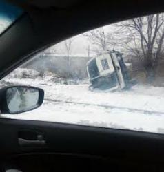 Под Донецком перевернулся бронеавтомобиль ОБСЕ