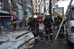 """Появилось видео, как обрушилась крыша в горящем торговом центре """"Адмирал"""""""
