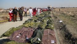 В Иране завершилась идентификация тел украинцев, погибших в катастрофе самолета МАУ