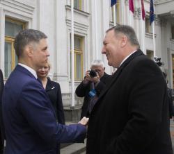 Помпео и Пристайко договорились углублять стратегическое партнерство США и Украины