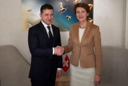 Владимир Зеленский встретился с Федеральным президентом Швейцарии