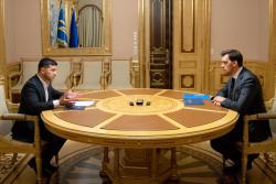Президент Украины поставил перед правительством Алексея Гончарука ряд неотложных задач