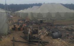 Под Черниговом произошел пожар на военном полигоне