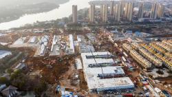 В китайском Ухане построен первый из двух полевых госпиталей на 1000 мест