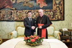 Президент Украины встретился с Государственным секретарем Святого Престола Пьетро Паролином