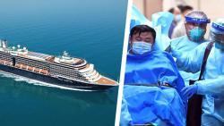 Круизный лайнер находится в море уже две недели из-за коронавируса