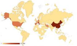 Карта распространения коронавируса 28 марта 2020
