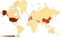 Коронавирус - карта распространения 30 марта