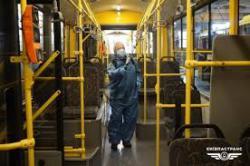 В Киеве из-за коронавируса проводят дезинфекцию общественного транспорта