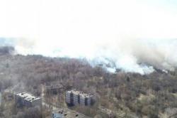 Спасатели потушили один из очагов пожара в Чернобыльской зоне отчуждения