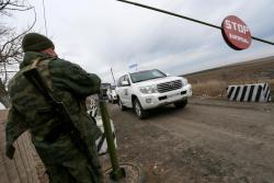 Боевики задержали наблюдателей ОБСЕ