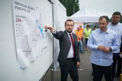 На Киевщине открыли обновленные 25 км трассы Киев - Одесса